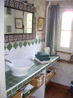 salle de bains 'verte'