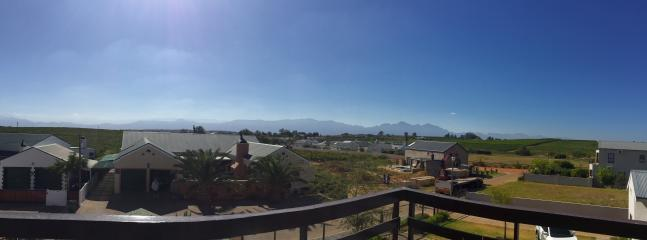 Mountain views from roof top deck.
