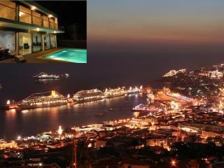 Villa and view - night time