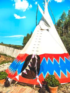 5 metre Native American Tipi with electricity and furniture to enjoy lounging in seeing night stars