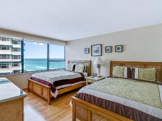Modern, waterfront condo close to beach w/ two pools, restaurant on-site!
