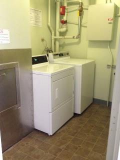 Laundry facilities on each floor - operated with EDS card instead of quarters.