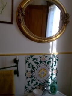Bathroom downstair. Toilet, bidet, basin
