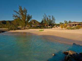 Sand Castle - Luxury Beach House in Jolly Harbour, Antigua - Beachfront, Gated Community, Pool