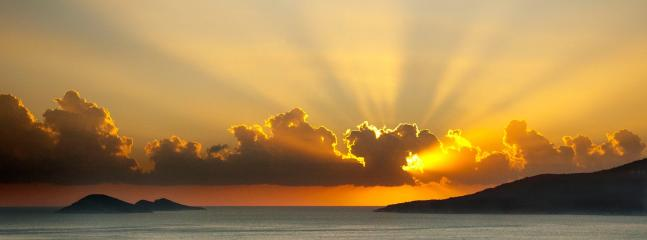 God Rays - sunset taken from Manzarali balcony