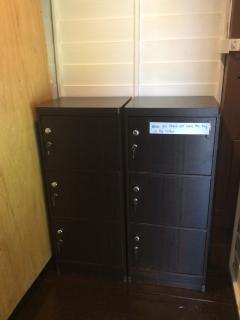 Security lockers in each dorm room