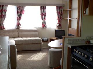 Caravan living room.