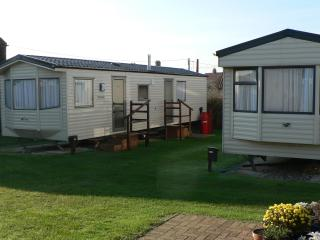 Two of our holiday caravans.