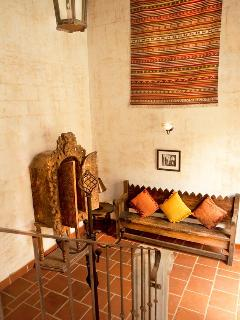 Our homes have Moroccan rugs throughout the walls.