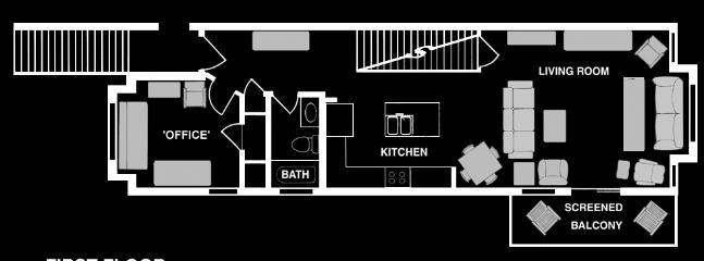 floor plan - main floor - garage below