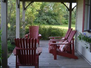 The veranda.  Watch the sun come up over the mountain while enjoying your morning coffee.