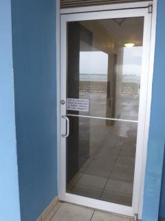 Security doors at lobby.
