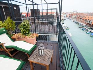 Terrace- Altana and the landscape of Venice