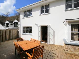 Decking area at the rear of the house, directly accessed from dining room
