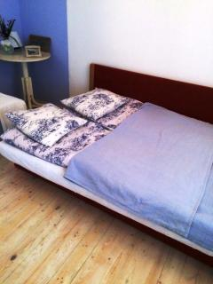 bed in big room - groundfloor