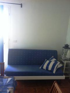 sofa bed in living