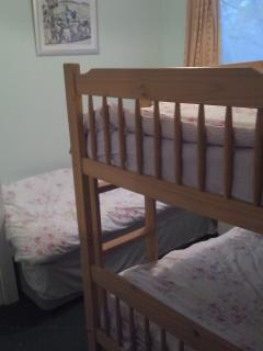 Bedroom 2 - 1 single and a bunk bed