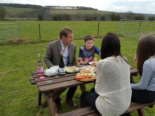 Enjoy outdoor dining with views over Lathkill Dale