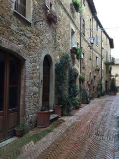 Typical Street in Montalcino near Apartment