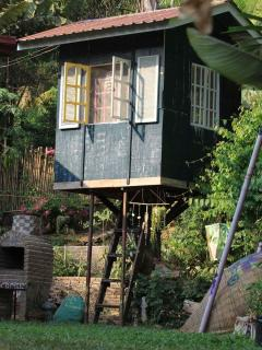 The tree house can also be rented for a small fee, it has an air con, fan and sleeping mats.