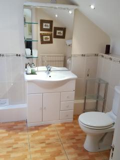 Family bathroom showing vanity unit