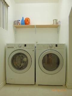 Detergents/ Fabric softener is complimentary. Fully loaded and working washer and dryer.