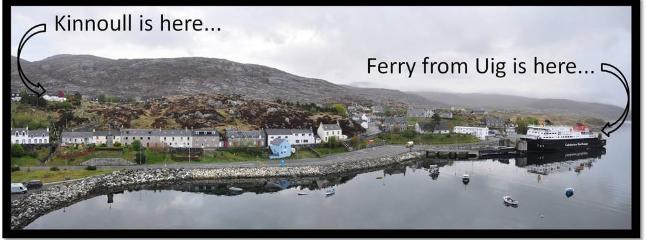 Proximity of Kinnoull to the ferry terminal in Tarbert.