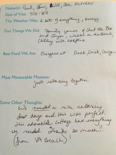 Reviews from our guest book