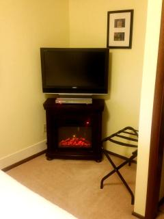 Electric Fireplace & TV with DVD player in Bedroom
