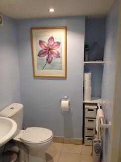 re-painted bathroom