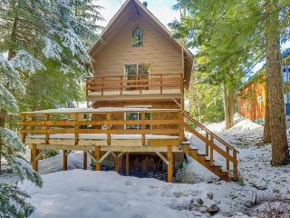 Dog-friendly Mt. Hood chalet w/wood fireplace & deck near Summit Ski Area