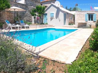 Original Dalmatian stonehouse with a pool, Island Brac