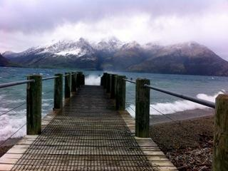 Lakeside Estates Jetty in a Winter storm