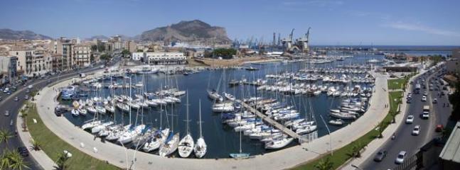 La Cala harbour behind the apartment, panoramic view.