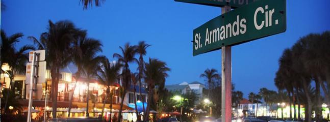 St. Armands Circle at twilight