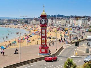 The Victorian clock on the promenade