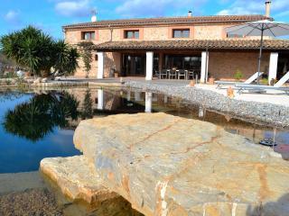 Preciosa villa con piscina natural