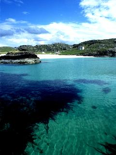 Clachtoll bay, with it's white sand beach