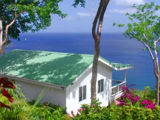 BANANA COTTAGE @ Nature's Paradise: AWESOME VIEWS!, bahía de Marigot