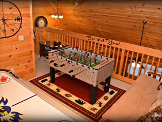 Game Room with foose ball and air hockey
