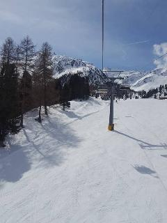 The view from the chair lift at Siviez on the Tortin run.