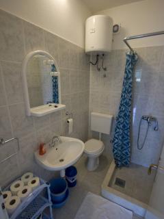 Bathroom in a smaller apartment