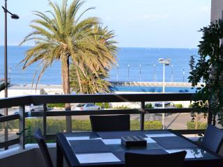 Apartment on la Salis beach with superb sea views, Antibes