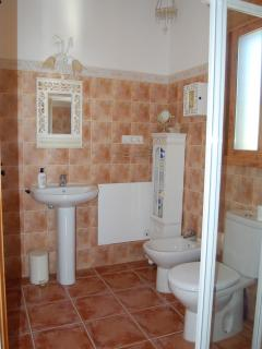One of the three en suite shower rooms