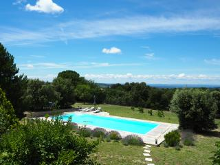 Provence-ventoux villa big pool with great view, Bédoin