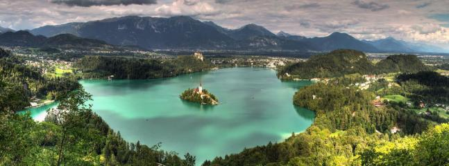 Lake Bled is located less than a 10-minute drive from the apartment.