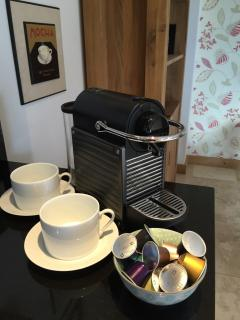 Nespresso coffee machine provided for our guests.