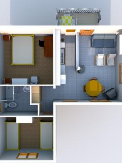 Layout of the apartment CESMINA