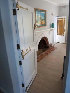 Fireplace in main bedroom