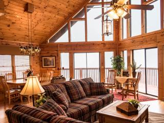SPECTACULAR SMOKY MT. VIEW LUXURY CHALET ONE has 5 BR 3BTH
